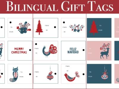 Free Spanish Christmas tags - LivingMiVidaLoca.com