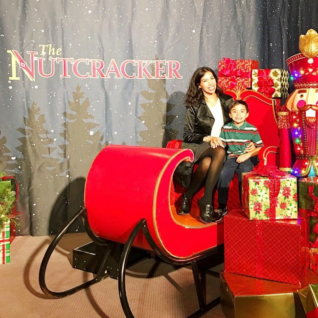 Pattie Cordova and Lucas Cordova at The Nutcracker photo opportunity - LivingMiVidaLoca.com
