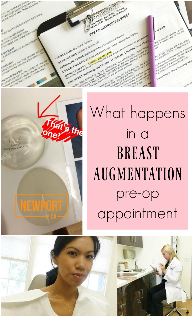 What happens in a breast augmentation pre-op visit - LivingMiVidaLoca.com