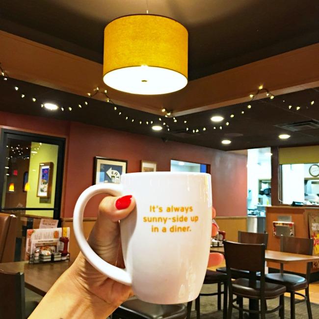 Coffee cup at Denny's Diner - LivingMiVidaLoca.com