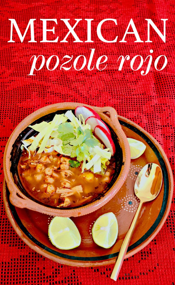 Easy Mexican Pozole Rojo recipe - LivingMiVidaLoca.com