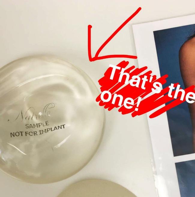 Natrelle breast augmentation implant