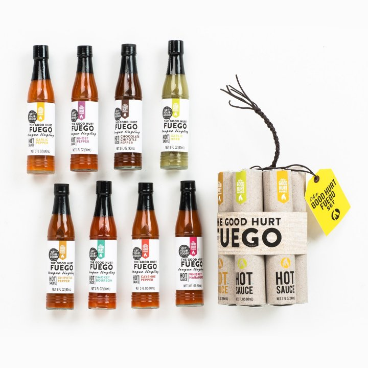 the good hurt fuego A Hot Sauce Lover's Gift Set