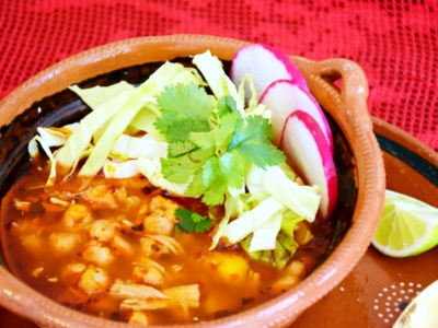 How to make traditional pozole rojo with chicken - LivingMiVidaLoca.com