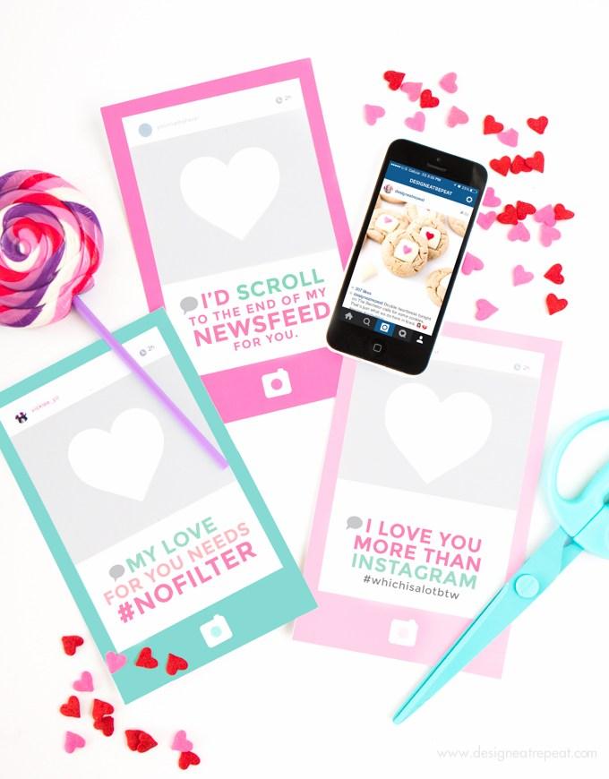 Free printable Valentine's Day cards - LivingMiVidaLoca.com