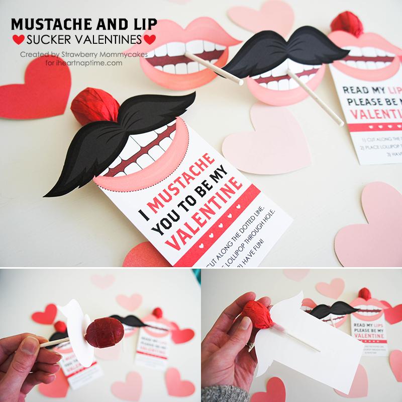 Mustache Valentine's Day card - LivingMiVidaLoca.com
