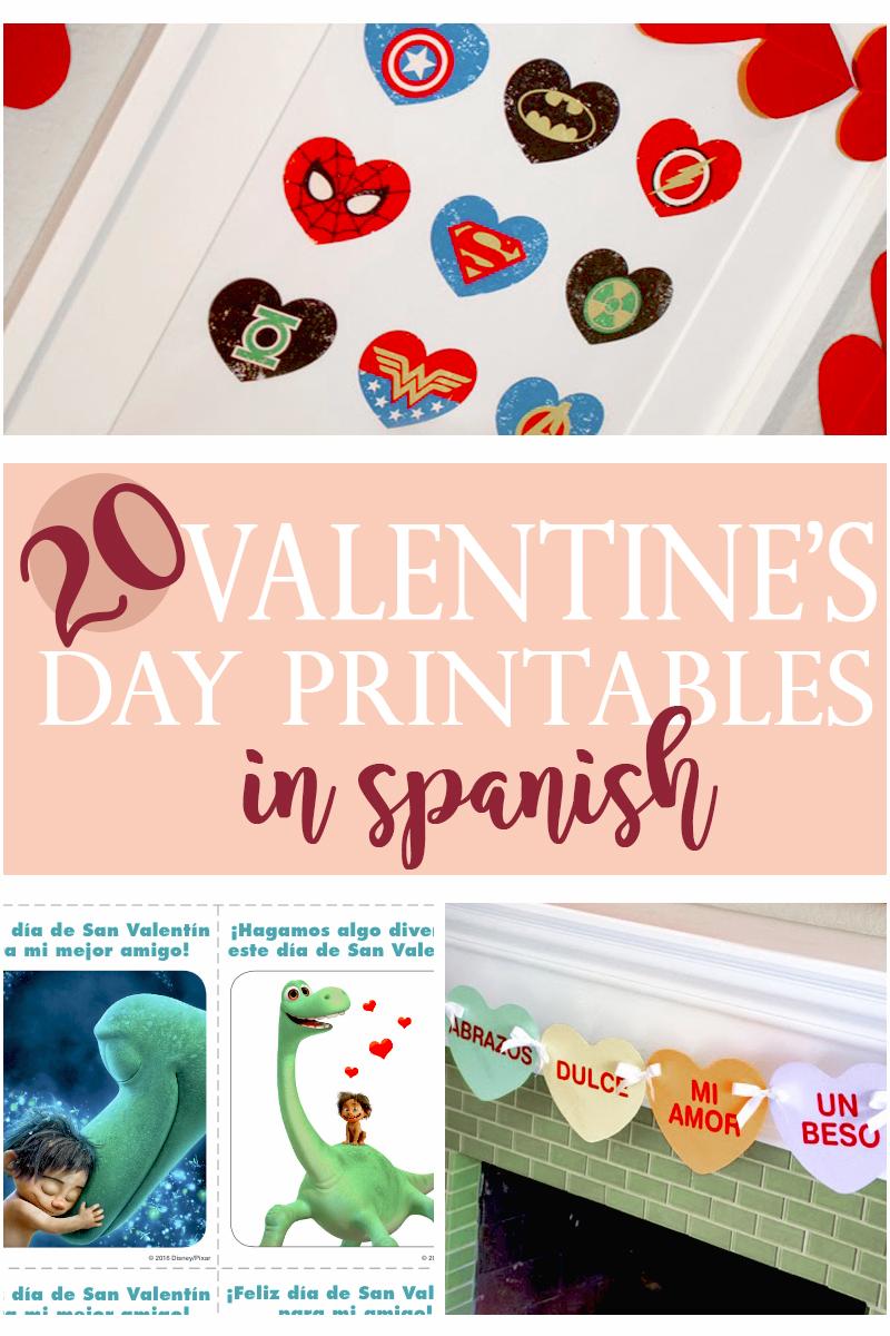 20 Valentines Day Printables In Spanish Living Mi Vida Loca