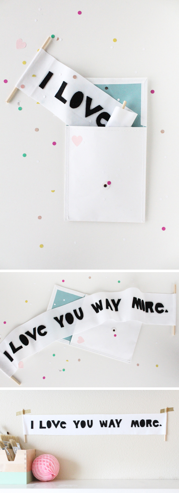 love letter scroll for Valentine's Day - livingmividaloca.com
