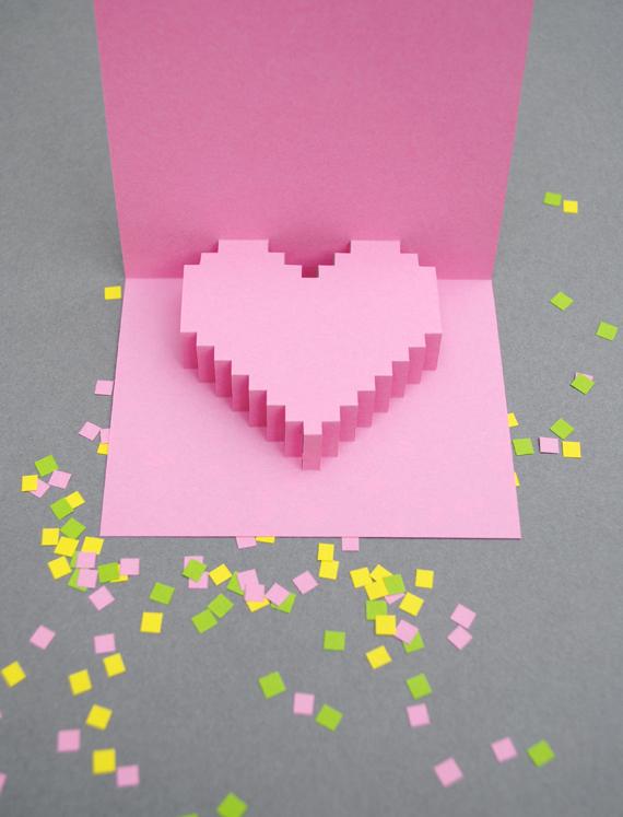Minecraft Valentine's Day card - LivingMiVidaLoca.com