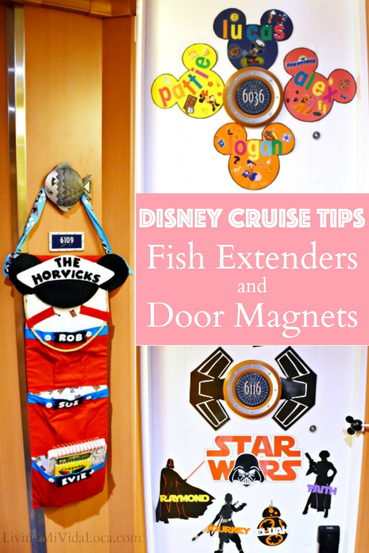 Disney Cruise Tips - Fish Extenders and Door Magnets - LivingMiVidaLoca.com