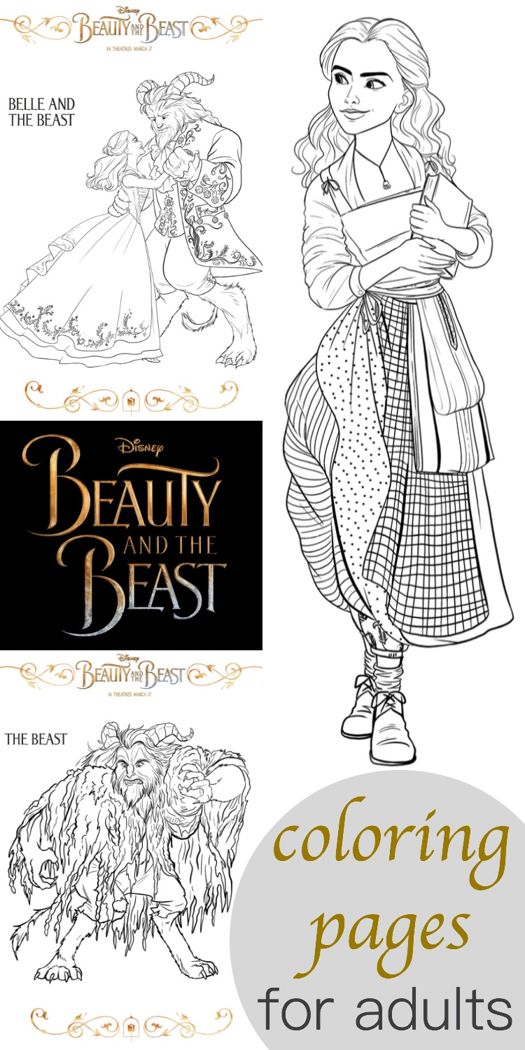 Beauty And The Beast Coloring Pages For Adults