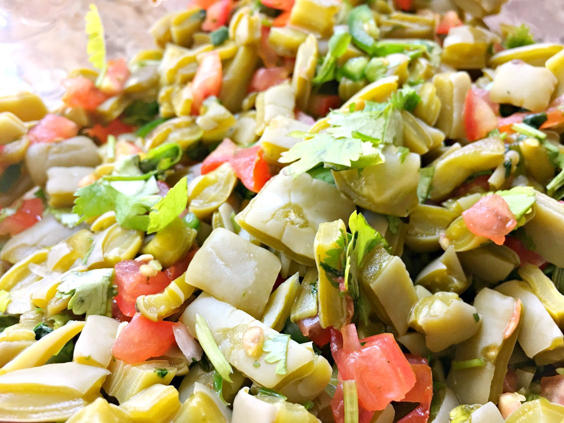 Easy Mexican cactus salad recipe - LivingMiVidaLoca.com