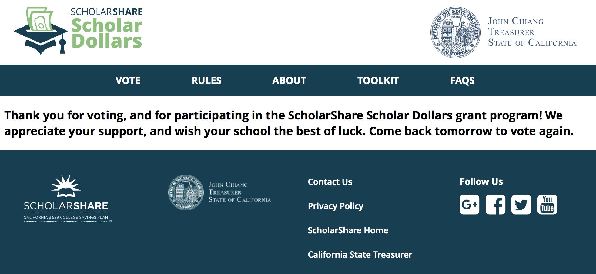 ScholarDollars grant vote - LatinaMomsOC.com