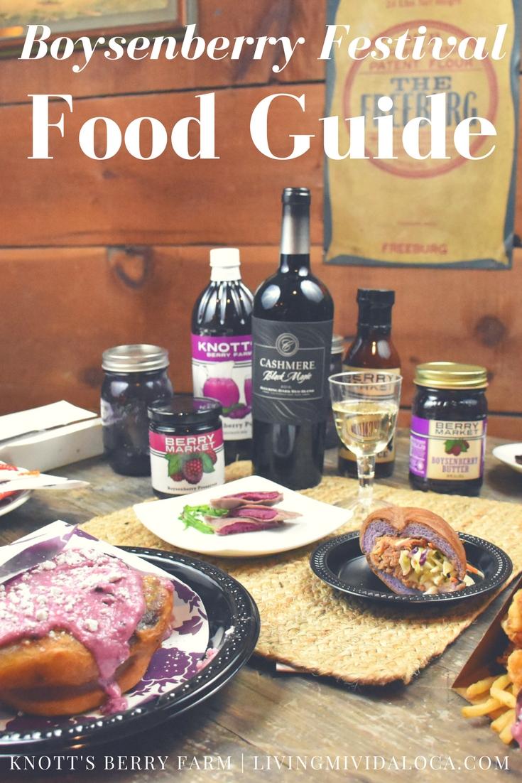Knott's Berry Farm Boysenberry Festival Food Guide - LivingMiVidaLoca.com