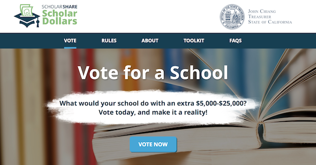 ScholarShare Scholar Dollars voting period - Latina Moms OC