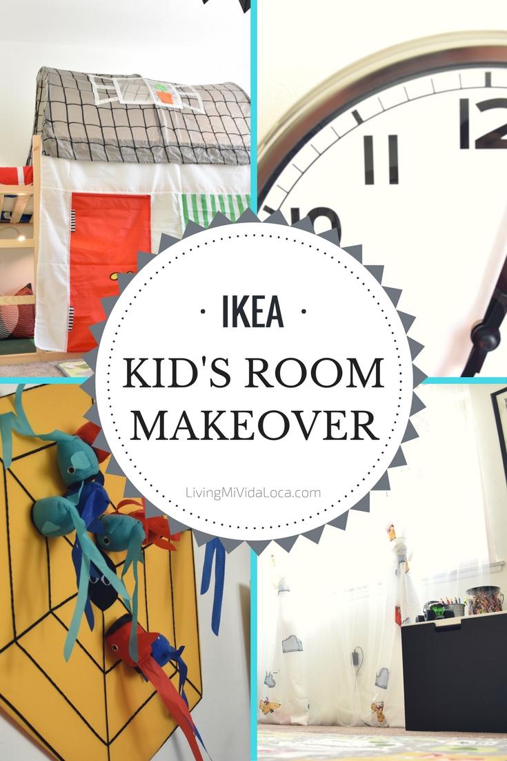 IKEA Kid's Room Makeover - LivingMiVidaLoca.com