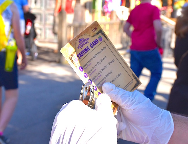 tasting cards at Knott's Berry Farm's Boysenberry Festival - LIvingMiVidaLoca.com