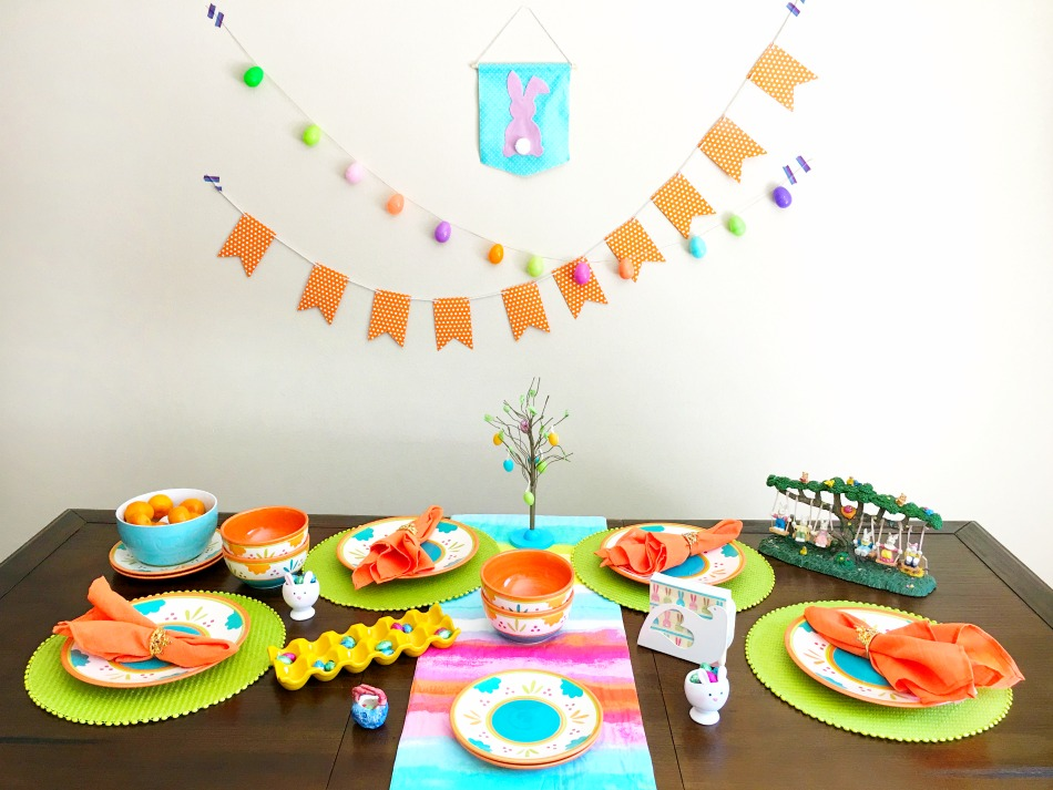 Easy Easter dining table setup - livingmividaloca.com