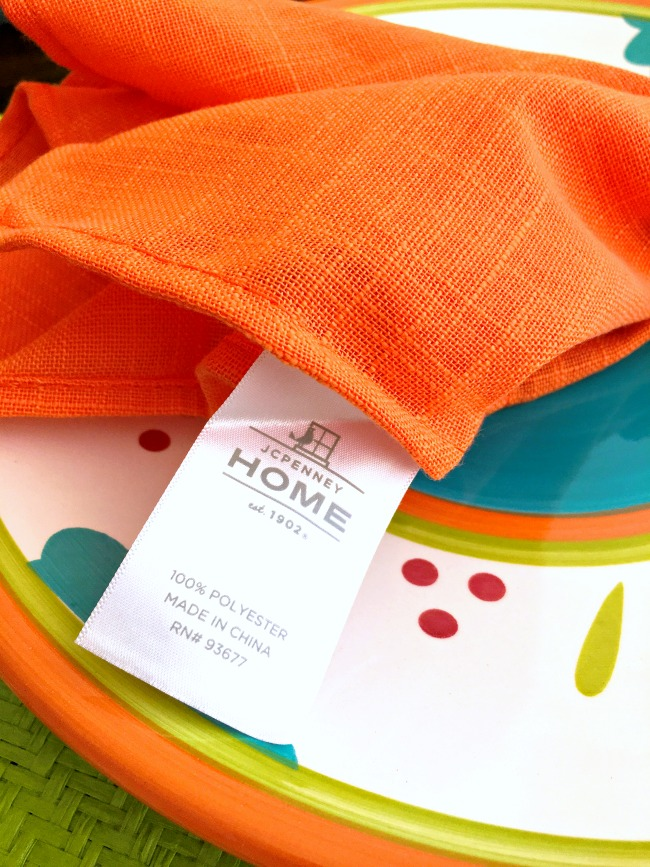 JC Penney orange cloth napkins - livingmividaloca.com