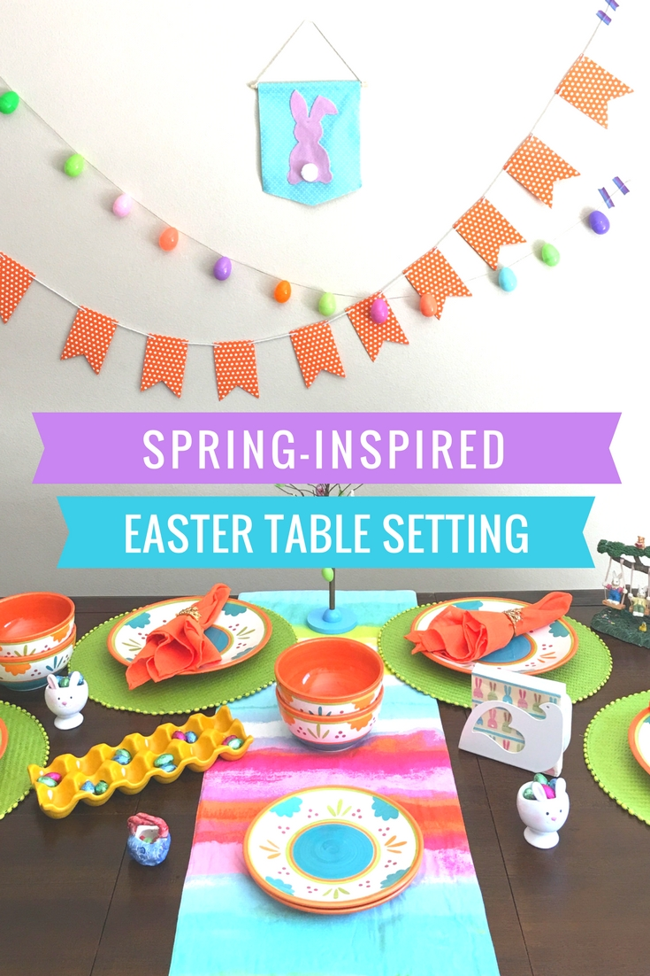 Spring Inspired Easter Table Setting - livingmividaloca.com