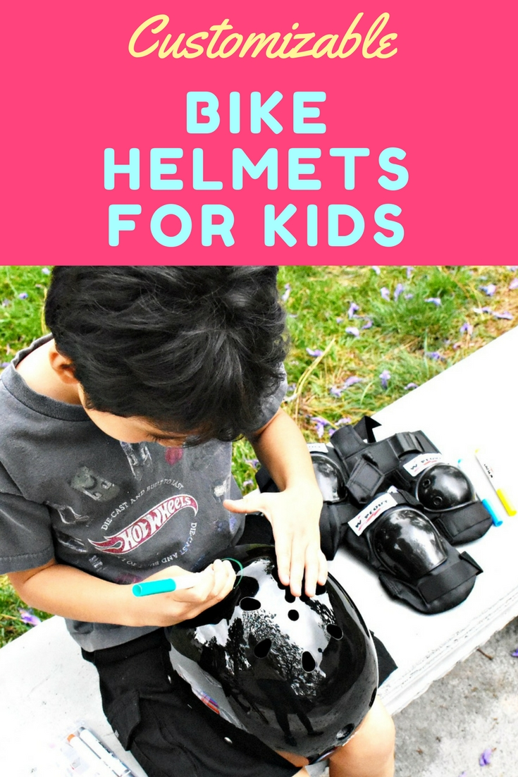 Customizable bike helmets for kids are great for kids because they're customizable! - LivingMiVidaLoca.com