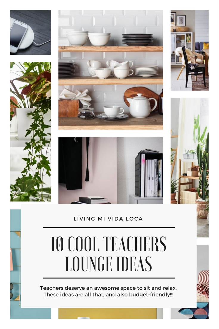 Budget friendly teachers lounge makeover ideas - LivingMiVidaLoca.com