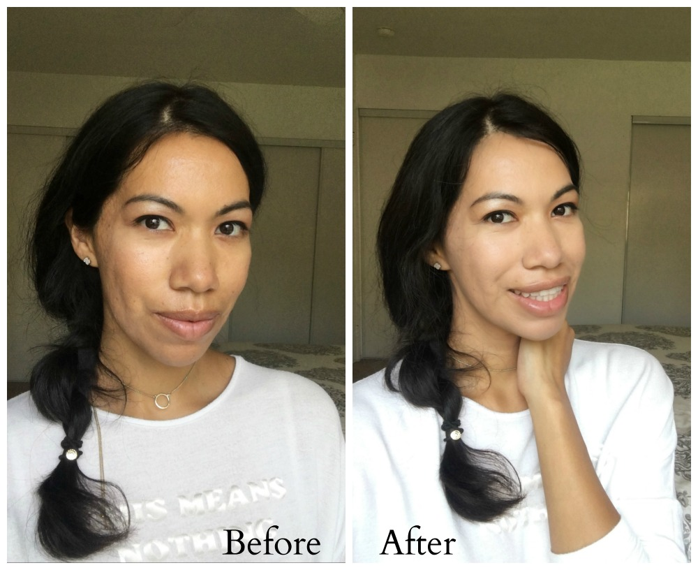 before and after using KAT VON D Lock It Product Favorites