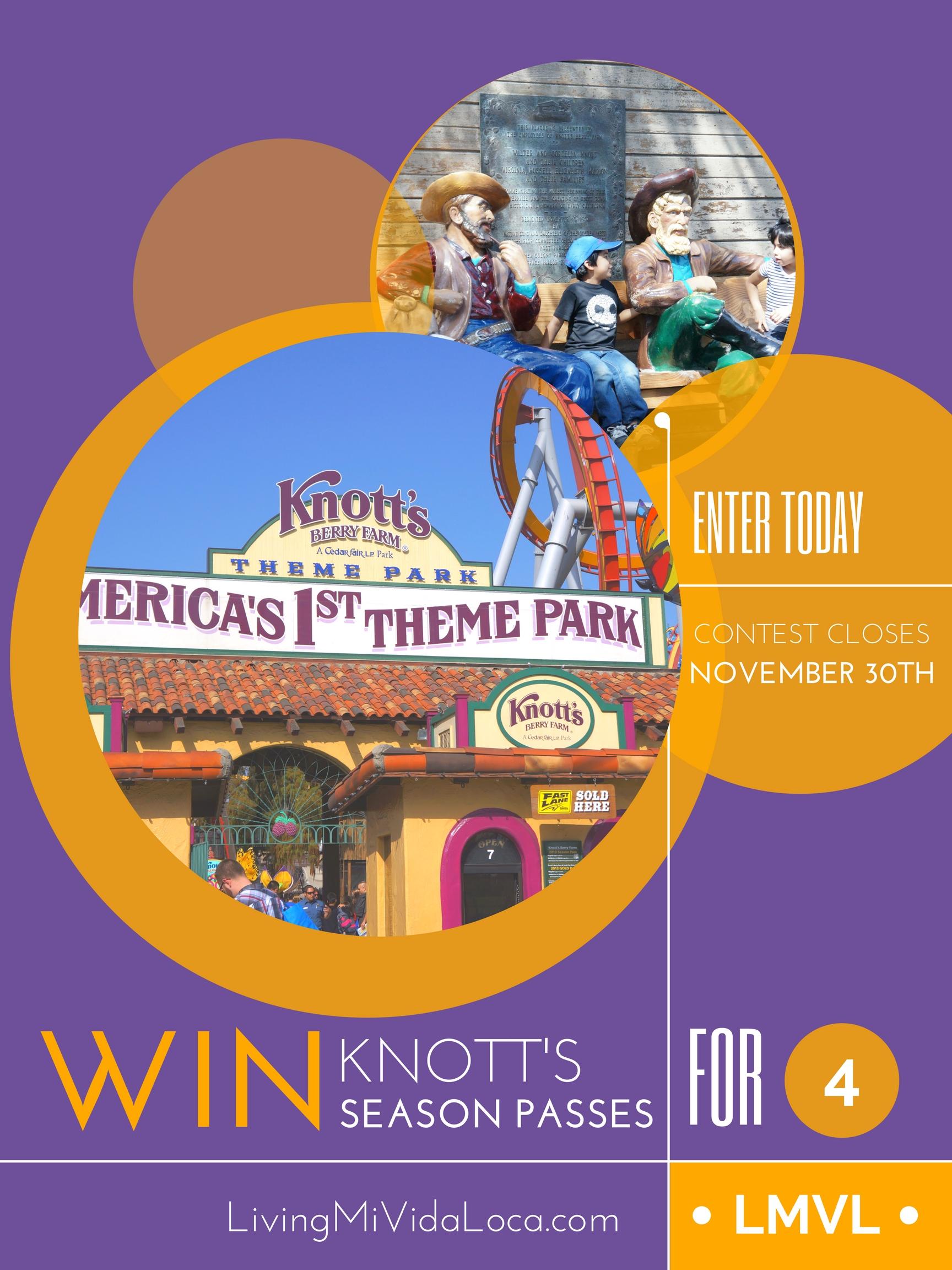 knott's season pass giveaway - livingmividaloca.com
