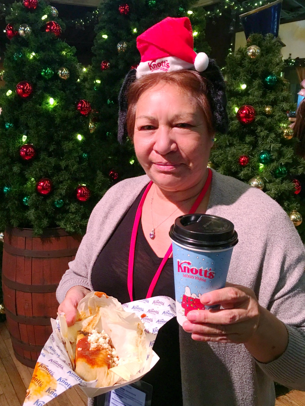 Grandma with tamales and coffee - livingmividaloca.com