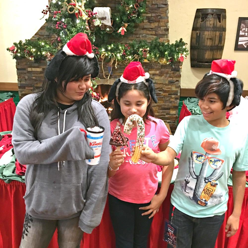 Kids trying out foods at Knott's Berry Farm - LivingMiVidaLoca.com