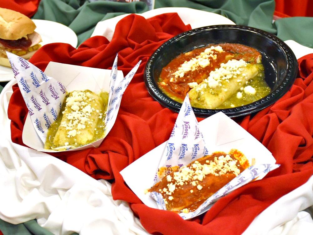 Red and green tamales at Knott's Berry Farm - LivingMiVidaLoca.com