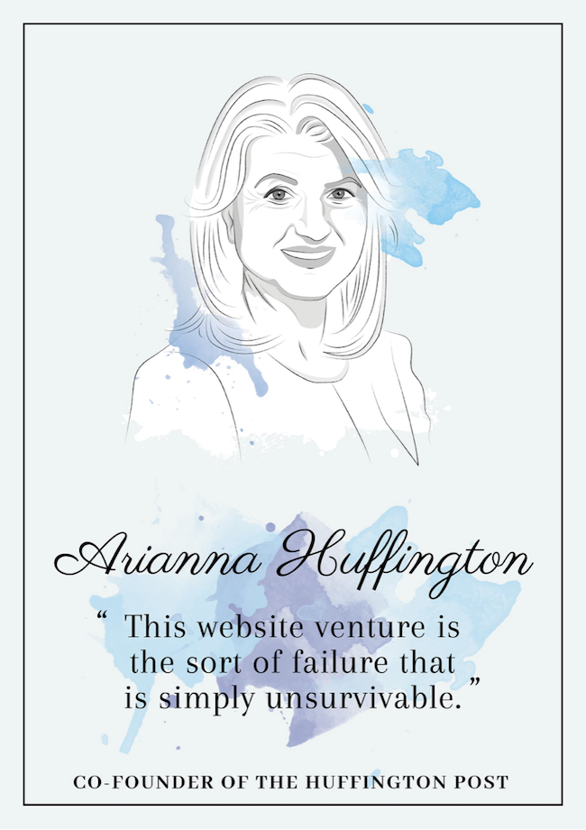 Quote from Arianna Huffington that inspire perseverance - livingmividaloca.com