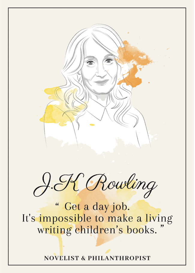 Quote from J.K. Rowling that inspire perseverance - livingmividaloca.com