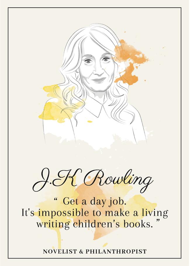 Quote from J.K. Rowling that inspire perseverance - livingmividaloca.com