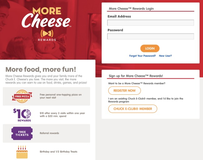 Sign up for the more cheese rewards program online - livingmividaloca.com