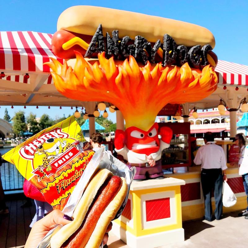 Angry Dogs stand at Pixar Pier, Disney California Adventure - livingmividaloca.com - #pixarpier #disneyland #disneycaliforniaadventure