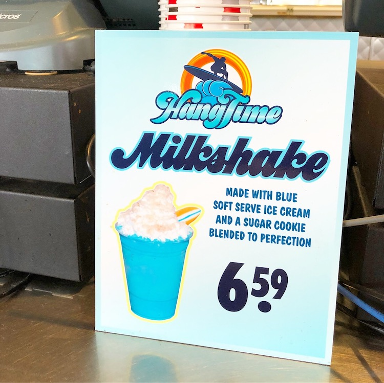 HangTime Milkshake sign at Knott's Coasters - livingmividaloca.com