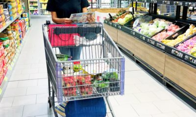 Latina woman shopping at ALDI for groceries - livingmividaloca.com