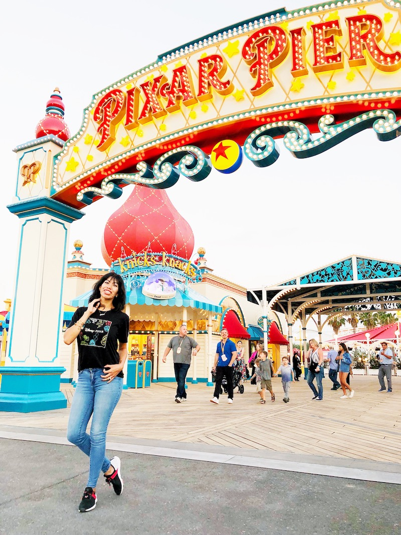 Pattie at Pixar Pier, Disney California Adventure | LivingMiVidaLoca.com
