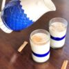 How to make horchata cinnamon rice milk in a Mexican glass - livingmividaloca.com
