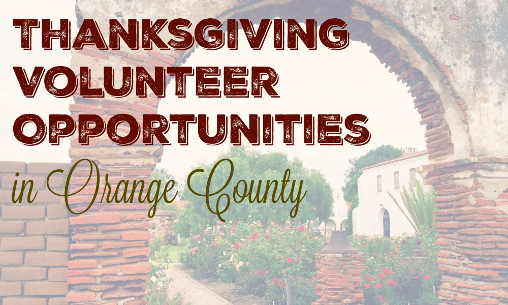Thanksgiving volunteer opportunities in Orange County - livingmividaloca.com