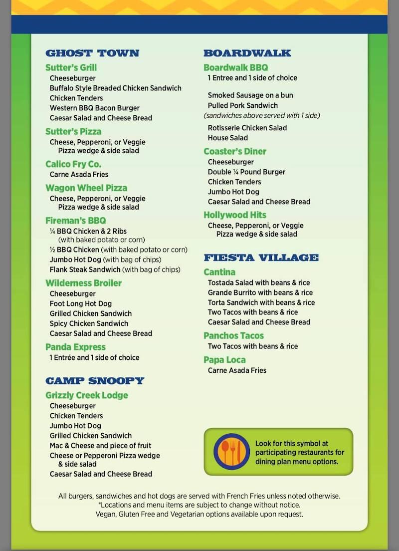 Knott's Berry Farm dining plan 2019 - livingmividaloca.com - #LivingMiVidaLoca #KnottsBerryFarm #Buena Park