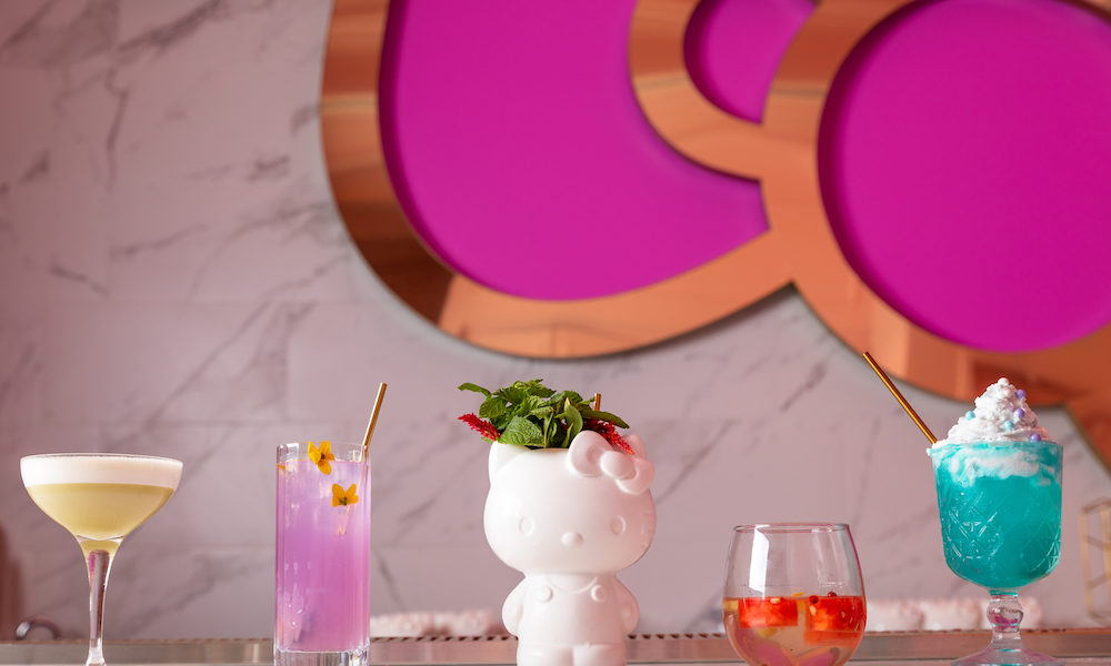 Hello kitty cafe cocktails