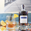 Make this easy Fall bourbon cocktail with Martell Blue Swift, Agave Nectar, bitters and orange juice. | livingmividaloca.com | #livingmividaloca #cocktail #bourboncocktail #martellblueswift #fallcocktail #fallbourboncocktail
