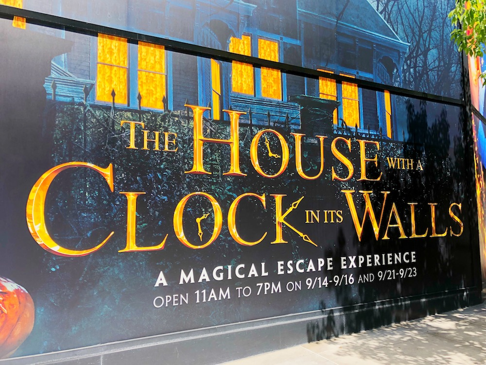 The House with a Clock in its Walls magical escape experience. | LivingMiVidaLoca.com | #HousewithaClock #JackBlack #CateBlanchett #kidsmovies #scarymovies