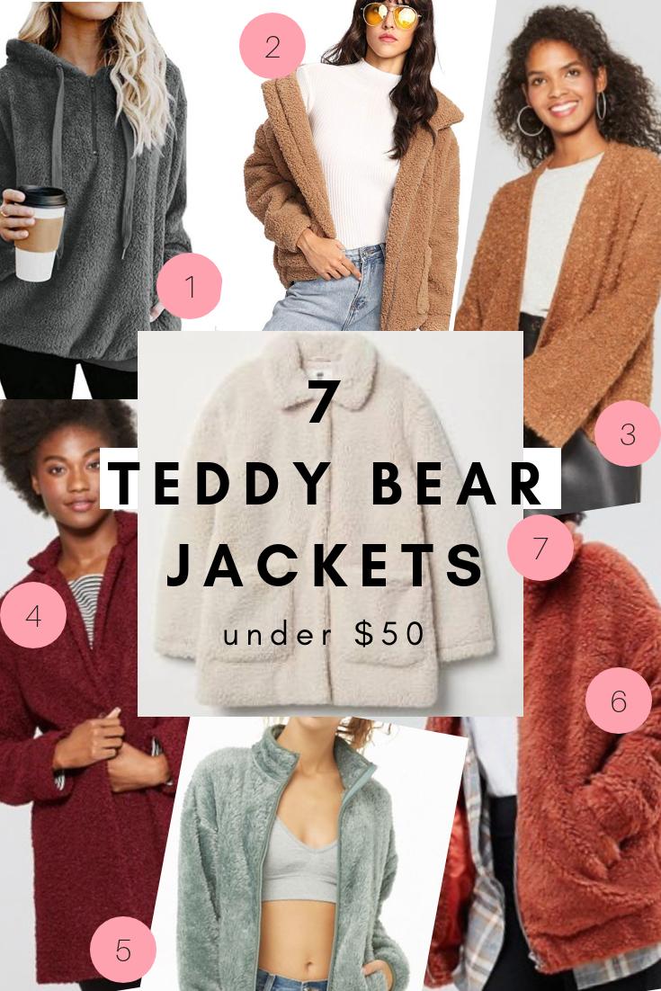 Teddy bear jackets. 7 Teddy Bear Coats and Jackets under $50, fall fashion, winter fashion | LivingMiVidaLoca.com | #LivingMiVidaLoca #TeddyBearJackets #TeddyBearCoats #WinterCoats #TrendyCoats