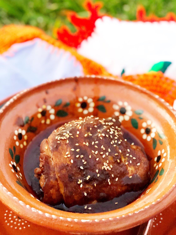 Chicken with Quick Mole Sauce Recipe | LivingMiVidaLoca.com | #LivingMiVidaLoca #Mole #MoleinChicken #ChickeninMole #ChickenMole #TraditionalMexicanRecipes #MexicanFood #MexicanMole