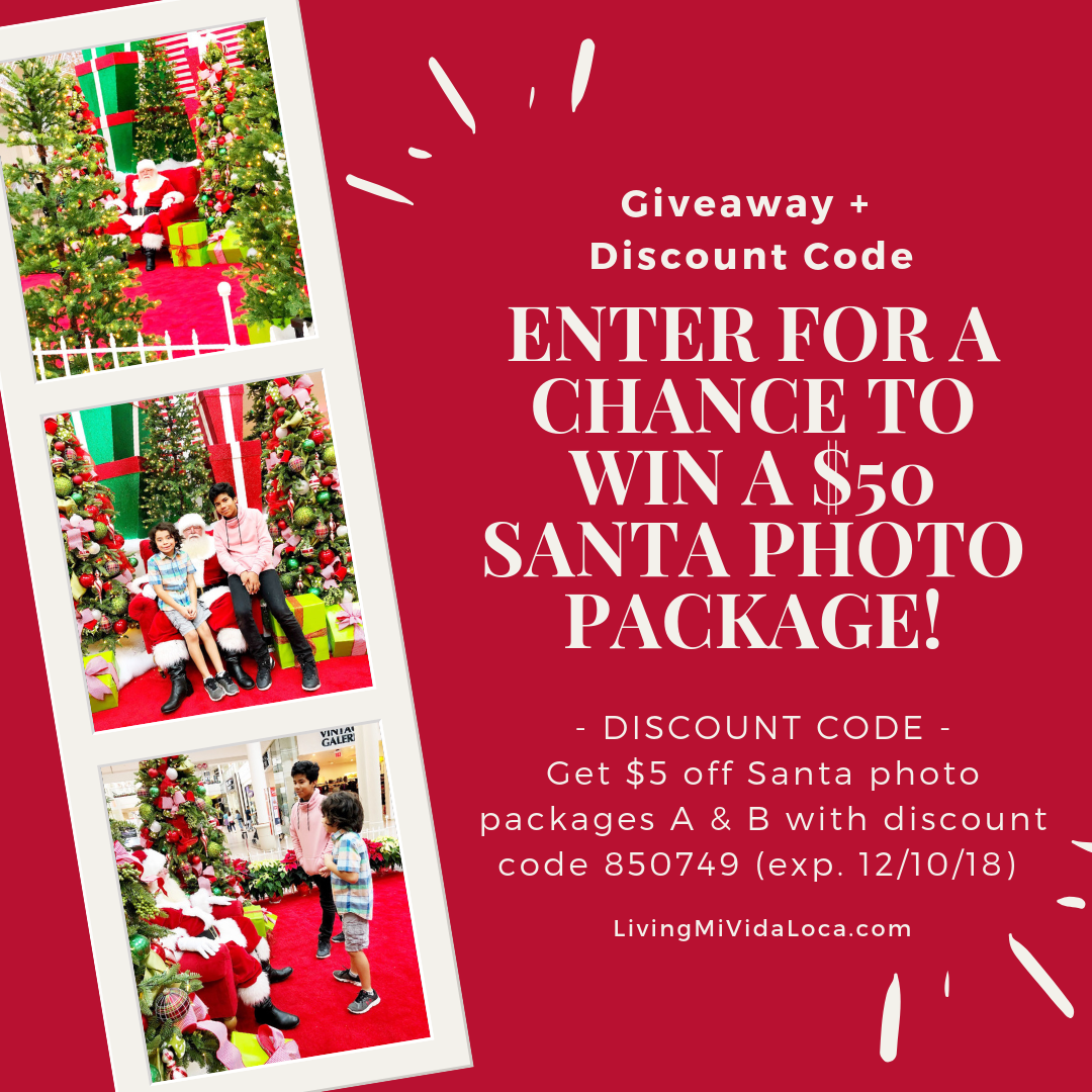 Win a $50 Santa photo package at the MainPlace Mall in Santa Ana