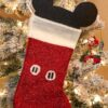 How to make a Mickey Mouse stocking in under 10 minutes - livingmividaloca.com | #LivingMiVidaLoca #DIYChristmasStocking #MickeyMouseStocking #MickeyMouse #DIYChristmas #ChristmasCraft
