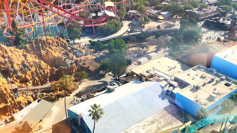 View from Woodstock's Bird's Eye View at Knott's Berry Farm - LivingMiVidaLoca.com - #LivingMiVidaLoca #KnottsPEANUTSCelebration #KnottsBerryFarm